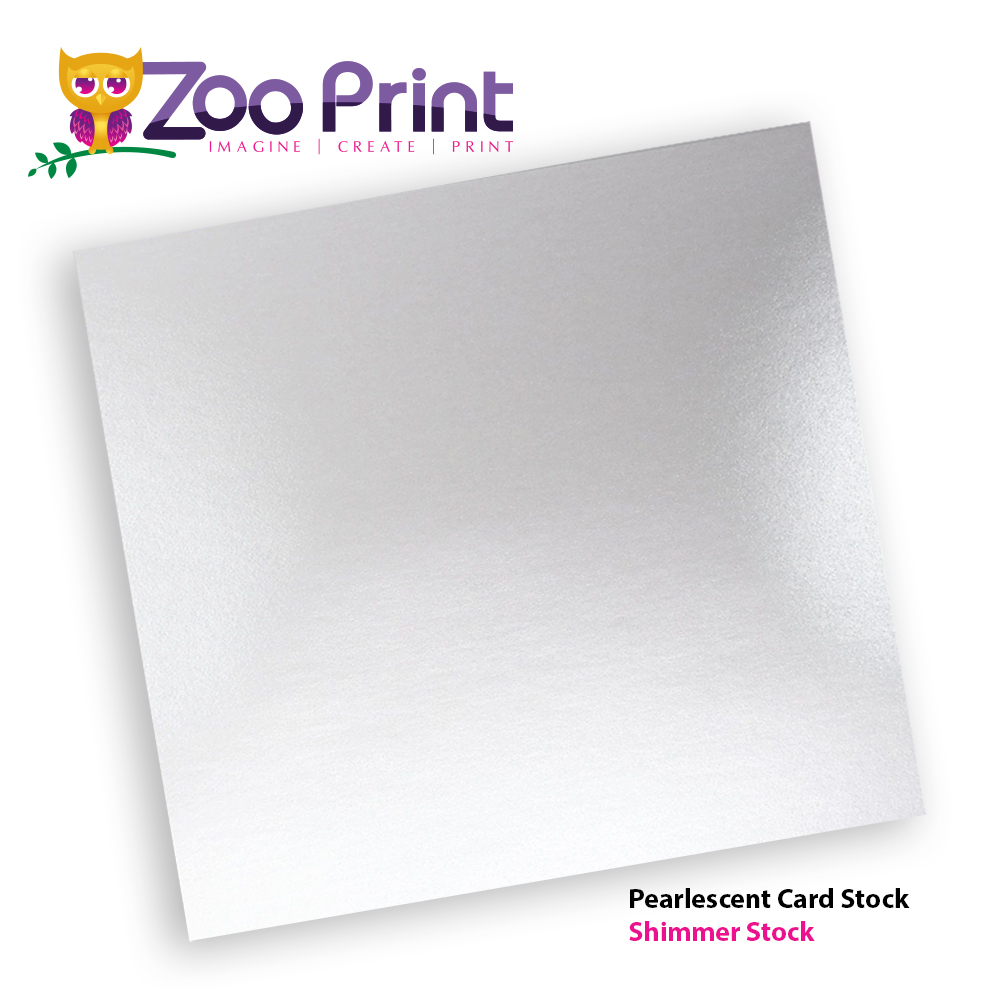 Pearlescent Pearl Paper Card Stock Zoo Print