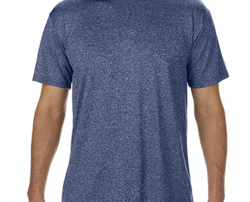 Gildan Adult G460 Performance T-Shirt Heather Sport Dark Navy