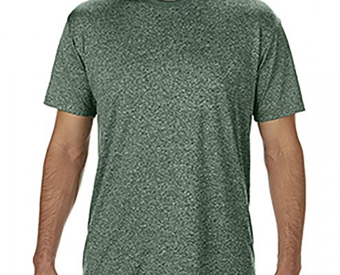 Gildan Adult G460 Performance T-Shirt Heather Sports Dark Green